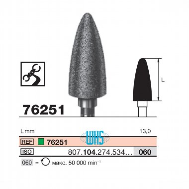 burs dental diamond tall 51