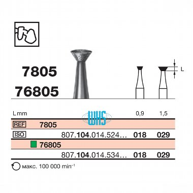 burs dental diamond tall 43