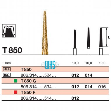 burs dental tin 31