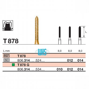burs dental tin 36