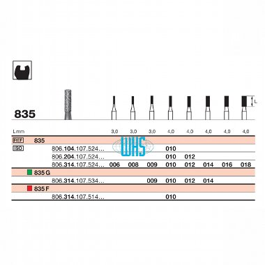 burs dental diamond 29