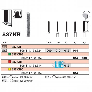 burs dental diamond 35