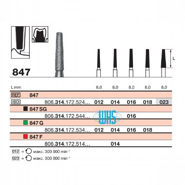 burs dental diamond 43