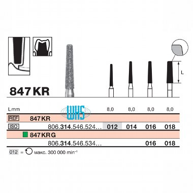 burs dental diamond 44