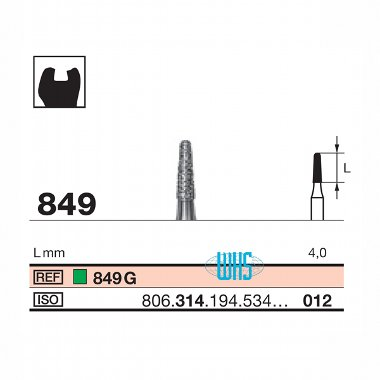burs dental diamond 46