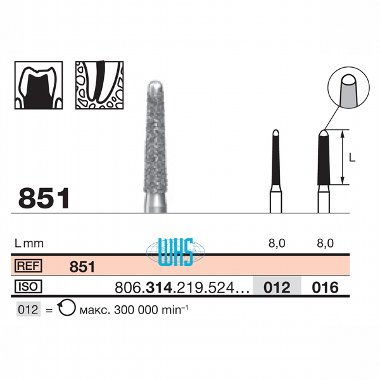 burs dental diamond 46b