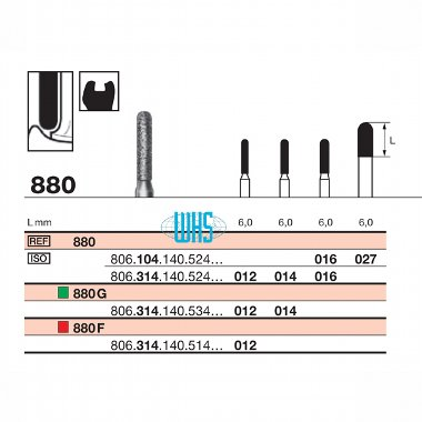 burs dental diamond 66