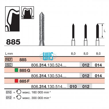 burs dental diamond 70