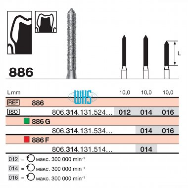 burs dental diamond 71