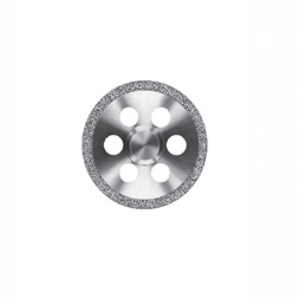 Алмазный диск со сплошным алмазным покрытием и круглой перфорацией