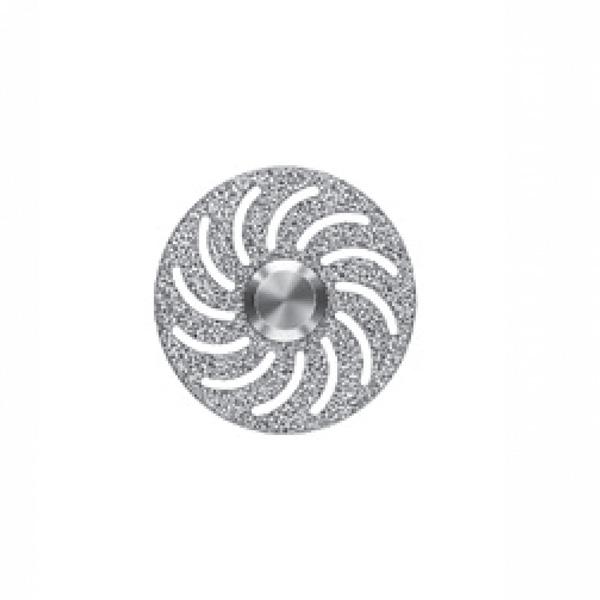 Алмазный диск с изогнутыми отверстиями
